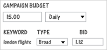 Set budget and bid amounts