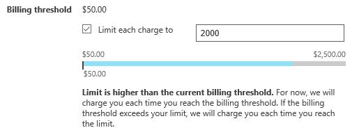 billing threshold