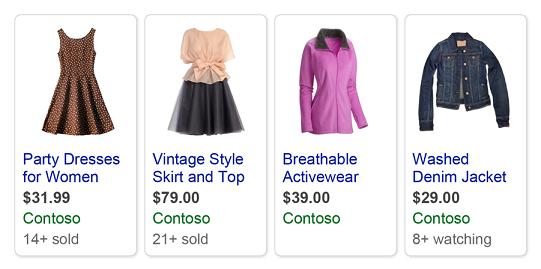 artículos vendidos