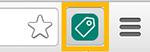 Icono de la aplicación auxiliar de la etiqueta de UET en la barra de Chrome