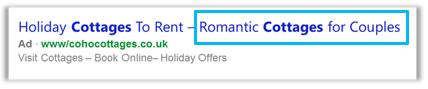 Expression de page de destination de titre d'annonce long