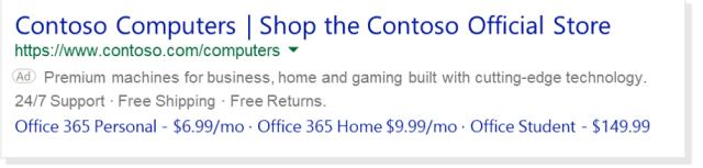 Extension de prix sur PC