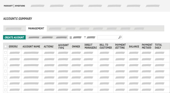 Capture d'écran du Résumé des comptes