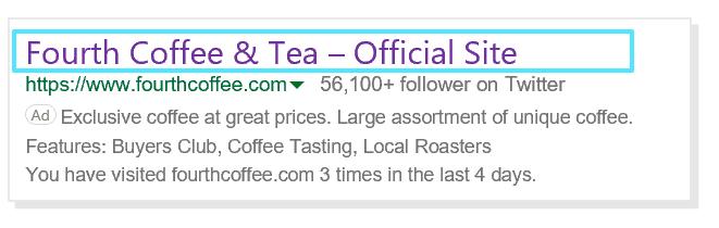 Captura de tela da visualização de links acessados
