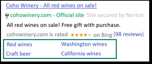 Extensões de Link de Site