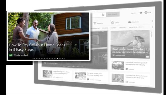 Exemplo de Anúncio de Audiência da Microsoft baseado em imagem